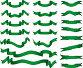 Набор зеленых ленточек, иллюстрация № 325636 (c) Даниил Кириллов / Фотобанк Лори