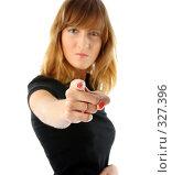 Сердитая девушка указывает на вас. Стоковое фото, фотограф Алексей Попрыгин / Фотобанк Лори