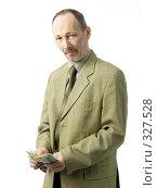 Бизнесмен с долларами. Стоковое фото, фотограф Алексей Попрыгин / Фотобанк Лори