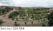Купить «Город Краснокаменск панорама», фото № 329584, снято 21 июня 2008 г. (c) Геннадий Соловьев / Фотобанк Лори