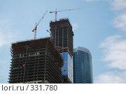Купить «Строительство высотного комплекса. Москва», фото № 331780, снято 13 июня 2008 г. (c) Катыкин Сергей / Фотобанк Лори