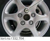 Купить «Автомобильное колесо», фото № 332704, снято 14 ноября 2007 г. (c) Анатолий Заводсков / Фотобанк Лори