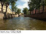 Речной канал в Санкт-Петербурге (2007 год). Стоковое фото, фотограф Ирина Доронина / Фотобанк Лори