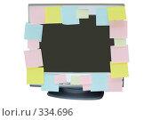 Купить «Монитор с клейкими листочками», фото № 334696, снято 20 октября 2007 г. (c) podfoto / Фотобанк Лори