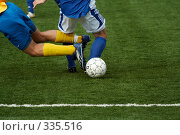 Футбол. Противоборство. Стоковое фото, фотограф Андреев Виктор / Фотобанк Лори