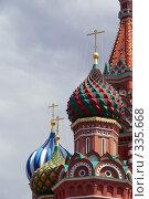 Купить «Москва. Купола Церкви Покрова Богородицы во Рву», фото № 335668, снято 25 июня 2008 г. (c) Julia Nelson / Фотобанк Лори