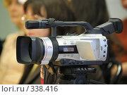 Видеокамера на пресс-конференции. Стоковое фото, фотограф Vladimir Kolobov / Фотобанк Лори