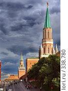 Купить «Никольская, Спасская башни, Мавзолей», фото № 338780, снято 19 сентября 2018 г. (c) Николай Винокуров / Фотобанк Лори