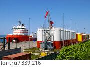 Купить «База снабжения нефтяного проекта «Сахалин»», фото № 339216, снято 24 июня 2008 г. (c) RedTC / Фотобанк Лори