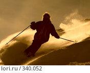 Купить «Спуск лыжника со склона горы Skier in cloude of powder», фото № 340052, снято 11 февраля 2007 г. (c) Максим Горпенюк / Фотобанк Лори