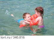 Купить «Дети в море», фото № 340816, снято 14 мая 2007 г. (c) Losevsky Pavel / Фотобанк Лори