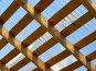 Деревянная решетка. Фрагмент крыши, эксклюзивное фото № 343888, снято 3 мая 2008 г. (c) lana1501 / Фотобанк Лори