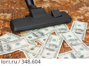 Купить «Пылесос засасывает деньги», фото № 348604, снято 17 ноября 2007 г. (c) podfoto / Фотобанк Лори