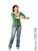 Девочка танцует. Стоковое фото, фотограф Варвара Воронова / Фотобанк Лори