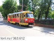 Купить «Трамвай на Чистопрудном бульваре, Москва», эксклюзивное фото № 363612, снято 14 июля 2008 г. (c) ДеН / Фотобанк Лори