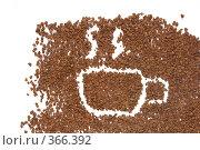 Купить «Чашка кофе. Рисунок на кофейном фоне», фото № 366392, снято 20 января 2019 г. (c) Losevsky Pavel / Фотобанк Лори