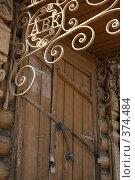 Инициалы хозяина богатого сельского дома при входе. Стоковое фото, фотограф Юлия Паршина / Фотобанк Лори