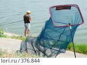 Купить «Рыбак. Отдых с удочкой у воды.», фото № 376844, снято 27 июля 2008 г. (c) Федор Королевский / Фотобанк Лори