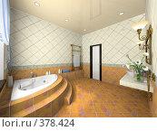 Купить «Интерьер современной ванной комнаты», иллюстрация № 378424 (c) Hemul / Фотобанк Лори