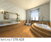 Купить «Интерьер современной ванной комнаты», иллюстрация № 378428 (c) Hemul / Фотобанк Лори
