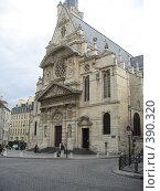 Купить «Собор в Париже», фото № 390320, снято 27 июня 2007 г. (c) Алла Кригер / Фотобанк Лори