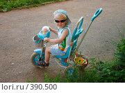 Купить «Мальчик на трехколесном велосипеде», фото № 390500, снято 15 июля 2008 г. (c) Сергей Костюров / Фотобанк Лори