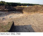Археологический раскоп. Стоковое фото, фотограф Александр Башкатов / Фотобанк Лори