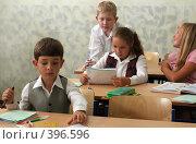 Купить «Ученики на уроке в школе», фото № 396596, снято 19 августа 2007 г. (c) Татьяна Белова / Фотобанк Лори