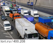 Купить «Москва. МКАД. Пробка.», эксклюзивное фото № 400208, снято 12 августа 2008 г. (c) lana1501 / Фотобанк Лори