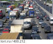 Купить «Москва. МКАД. Пробка.», эксклюзивное фото № 400212, снято 12 августа 2008 г. (c) lana1501 / Фотобанк Лори
