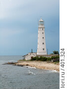 Купить «Маяк мыса Тарханкут. Крым, Украина», фото № 401324, снято 13 августа 2005 г. (c) Алексей Зарубин / Фотобанк Лори