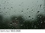 Купить «Стекло с каплями дождя», фото № 403068, снято 13 августа 2008 г. (c) Татьяна Заварина / Фотобанк Лори