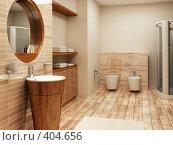 Купить «Интерьер ванной комнаты», иллюстрация № 404656 (c) Дмитрий Кутлаев / Фотобанк Лори