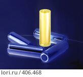 Купить «Максимально заряженная батарейка на темном фоне», фото № 406468, снято 22 мая 2008 г. (c) Юрий Жеребцов / Фотобанк Лори