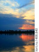 Купить «Закат на реке», фото № 408840, снято 4 июля 2008 г. (c) Людмила Пашкевич / Фотобанк Лори
