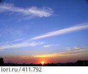 Купить «Небесный пейзаж. Закат.», фото № 411792, снято 7 июля 2020 г. (c) A Челмодеев / Фотобанк Лори