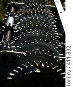 Механизм с зубчатым колесом. Стоковое фото, фотограф A Челмодеев / Фотобанк Лори