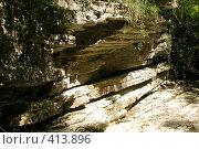 Купить «Скалистый берег реки Агура», фото № 413896, снято 10 августа 2008 г. (c) Мажугин Алексей / Фотобанк Лори