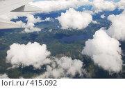 Вид из самолета. Норвегия (2008 год). Стоковое фото, фотограф E. O. / Фотобанк Лори