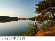 Купить «Дело к вечеру. Водохранилище на реке Рудея вблизи города Могилева», фото № 417988, снято 19 августа 2008 г. (c) Виктор Пелих / Фотобанк Лори