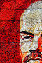 Фрагмент настенной мозаики с изображением В.И.Ленина.г.Сочи,Краснодарский край,Россия., фото № 418484, снято 5 августа 2008 г. (c) Андрей Бурдюков / Фотобанк Лори
