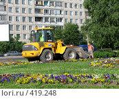 Купить «Озеленение города», фото № 419248, снято 4 июля 2008 г. (c) Юлия Селезнева / Фотобанк Лори