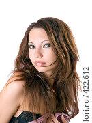 Купить «Портрет красивой девушки», фото № 422612, снято 2 июля 2008 г. (c) Сергей Сухоруков / Фотобанк Лори