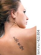 Купить «Девушка с татуировкой», фото № 422804, снято 2 июля 2008 г. (c) Сергей Сухоруков / Фотобанк Лори