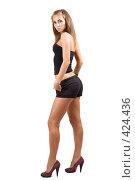 Купить «Сексуальная молодая девушка», фото № 424436, снято 26 июня 2008 г. (c) Сергей Сухоруков / Фотобанк Лори