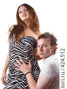 Купить «Девушка и юноша», фото № 424512, снято 11 июля 2008 г. (c) Сергей Сухоруков / Фотобанк Лори