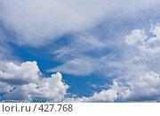 Купить «Небо с облаками», фото № 427768, снято 28 июня 2008 г. (c) Ольга Хорькова / Фотобанк Лори