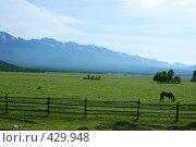 Купить «Утро в Тункинской долине», фото № 429948, снято 14 июня 2008 г. (c) Виталий Попов / Фотобанк Лори