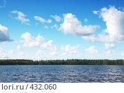 Купить «Пейзаж с озером», фото № 432060, снято 23 августа 2008 г. (c) Катыкин Сергей / Фотобанк Лори