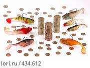 Купить «Монеты и воблеры», фото № 434612, снято 1 сентября 2008 г. (c) Игорь Веснинов / Фотобанк Лори